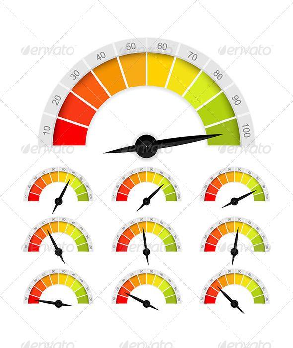 Set Of Percentage Rating Indicators Consuming Class