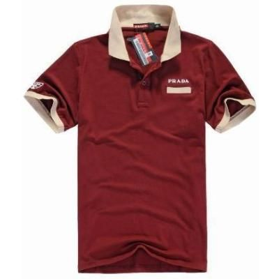 $79, Burgundy Polo: Prada Burgundy Sports Polo Shirt. Sold by http://www.shopperscorneroutlet.com. Click for more info: https://lookastic.com/men/shop_items/51208/redirect