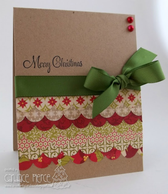 Creatively Candace: Christmas Card Challenges I LOVE the kraft cs!