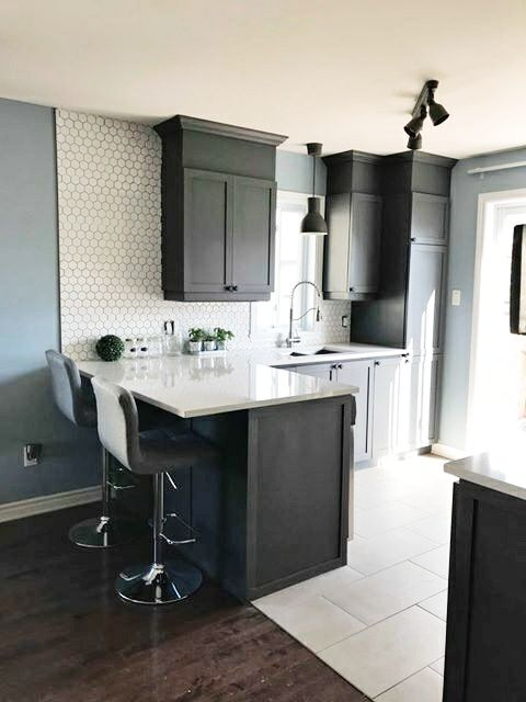 Kitchen Cabinetry Transformed With Serenity Paint In The Color