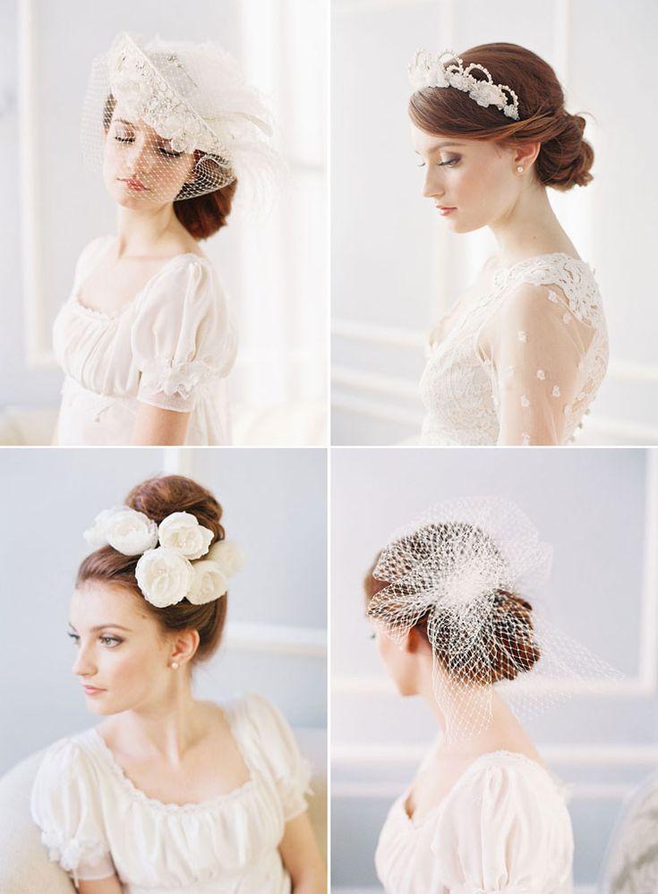 wedding hair - photography by caroline tran. accessories by erica elizabeth.