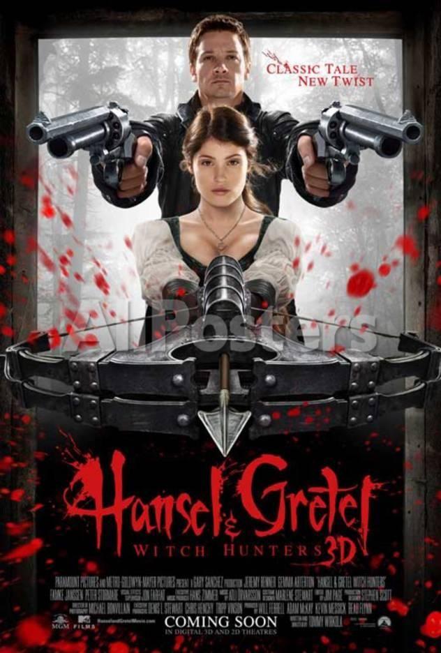 Hansel Gretel Witch Hunters Jeremy Renner Gemma Arterton Movie Poster Masterprint Allposters Com Free Movies Online Full Movies Online Free Movies Online
