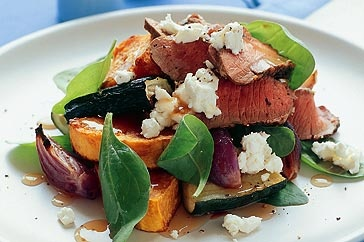 Chargrilled lamb salad with goat's cheese!