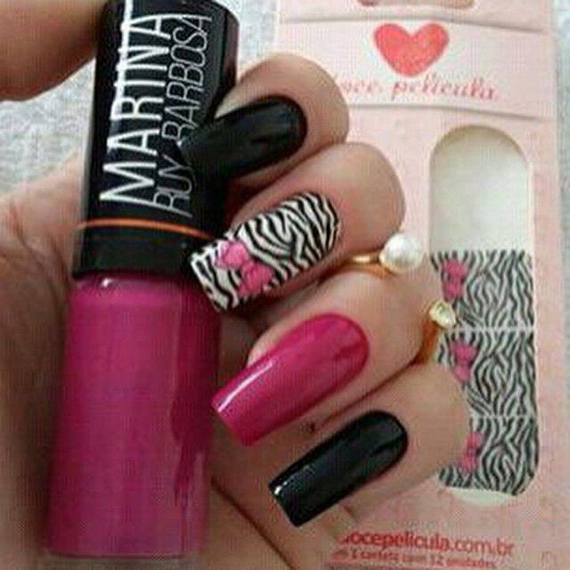 película de renda preta com lacinho rosa