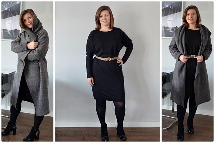 płaszcz, płaszcz bez podszewki, wełniany płaszcz, płaszcz z wełny, jak uszyć płaszcz, sukeinka, suknia, wygodna sukienka, sukienka z dzianiny, sukienka z dresówki, prosta sukienka, czarna sukienka, wełna parzona, wełna, dresówka, dzianina, szycie, szycie ubrań, blog o szyciu