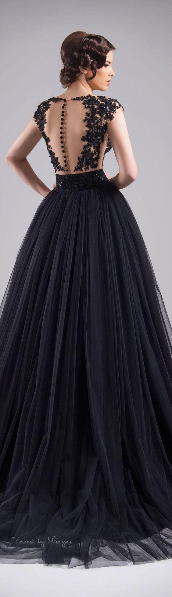Chrystelle Atallah Spring-summer 2015 / http://www.himisspuff.com/black-wedding-dresses/4/