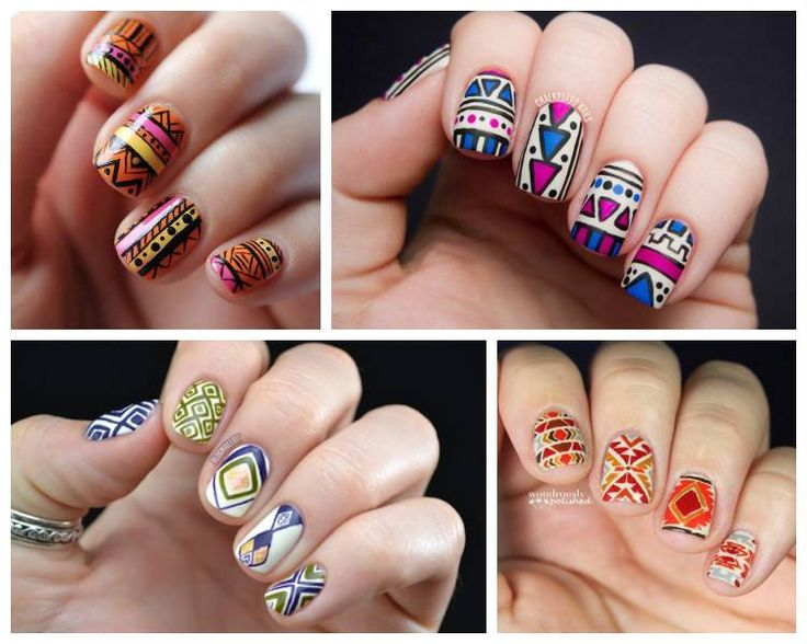 Этнический дизайн ногтей: 23 идеи маникюра 2016 года
