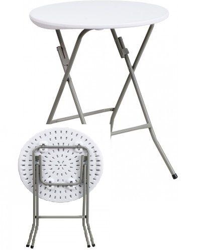 Round Granite White Plastic #Folding_Table $45