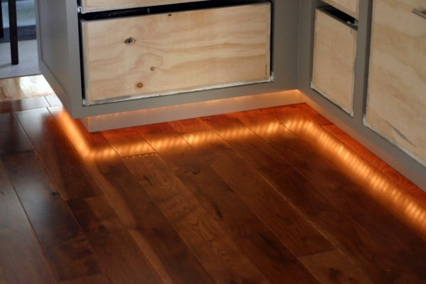Rope lights for under cabinets.