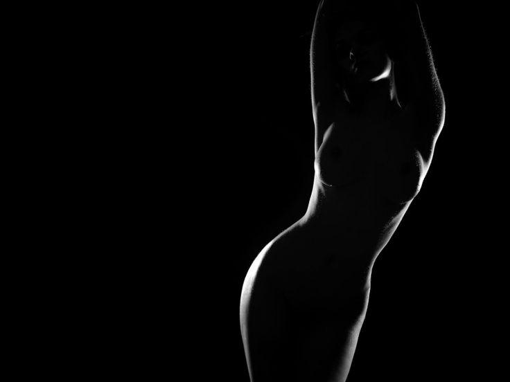 artistic silhouette monochrome nude 1920x1080 wallpaper