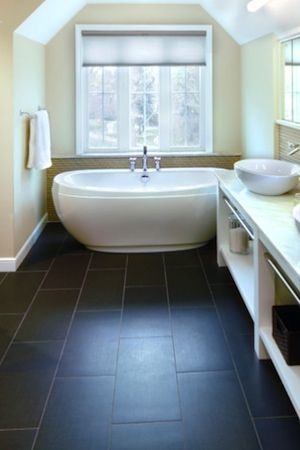 How to Clean Porcelain Tile: use a vinegar-water solution, NOT bleach