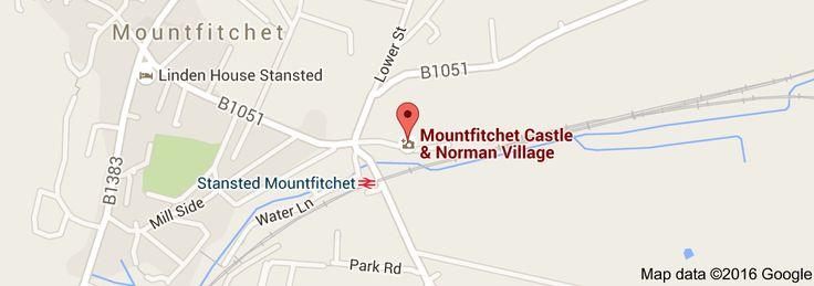 Map of Mountfitchet Castle & Norman Village