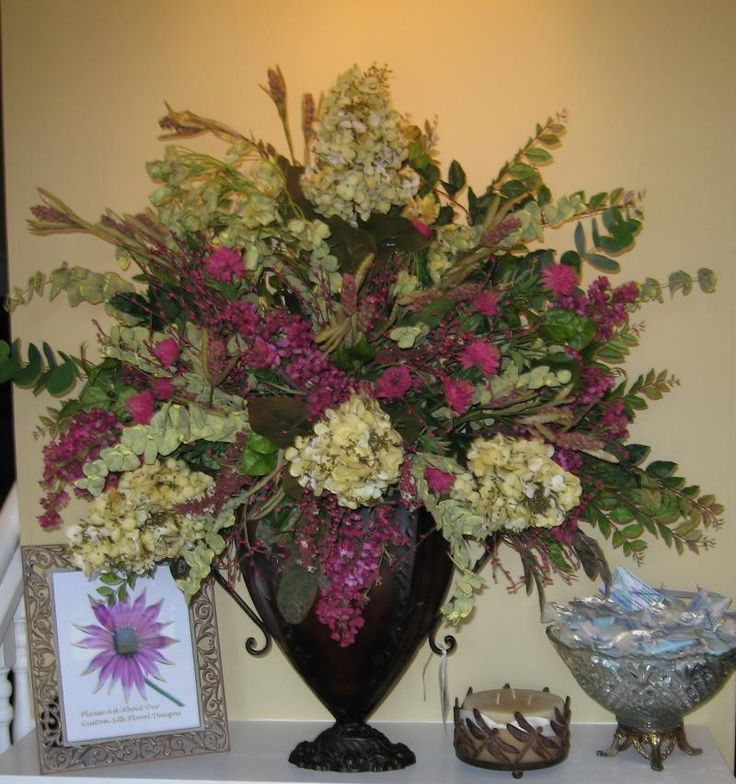 Large Vase Arrangements Entryway