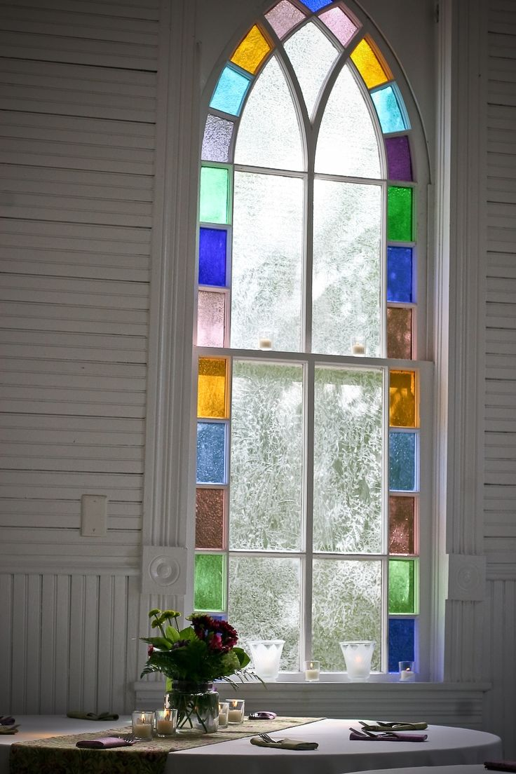 I live in my dream home, but my dream house will have a stained glass window.