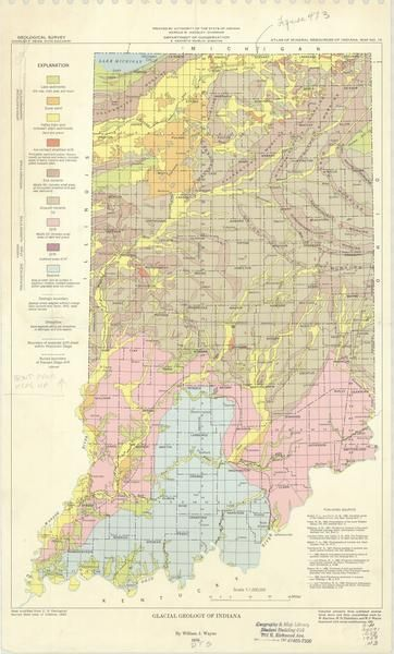 Glacial geology of Indiana | INDIANA, MAPS | Laporte ...