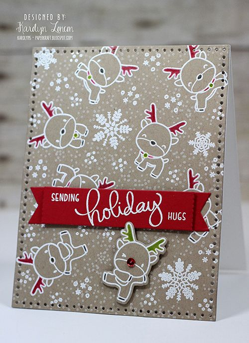 Reindeer Games with Karolyn Loncon | mama elephant | design blog | Bloglovin