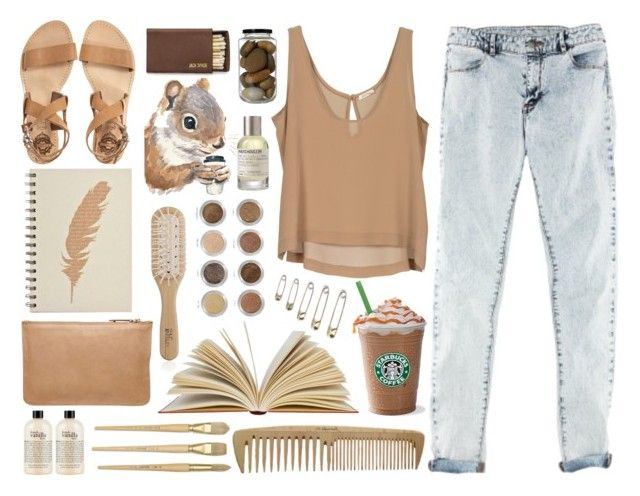 """Earth-y"" by amy-marwedel ❤ liked on Polyvore featuring H&M, Witchery, Philip Kingsley, Sol Sana, Alima, philosophy and Le Labo"