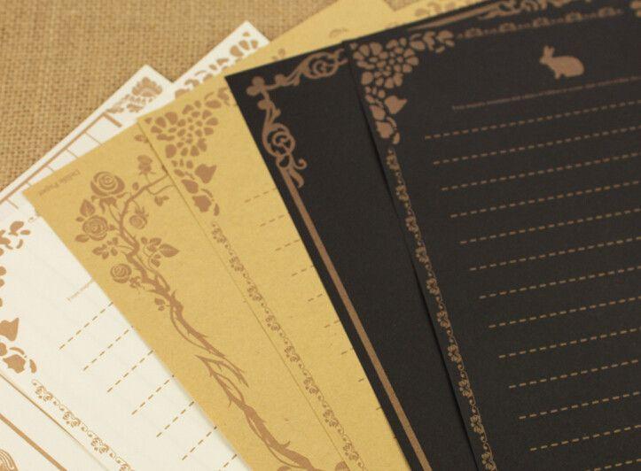 Aliexpress.com: Compre 40 folhas / 5 conjuntos estilo europeu Vintage carta de amor romântico papelaria carta de papel Kraft de confiança paper calendar fornecedores em FashionWeb