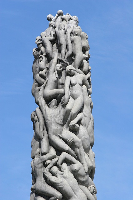 Monolith - Vigeland Park, each of the people striving to the future is beautifully finished. A wonderful rendering of man' history.