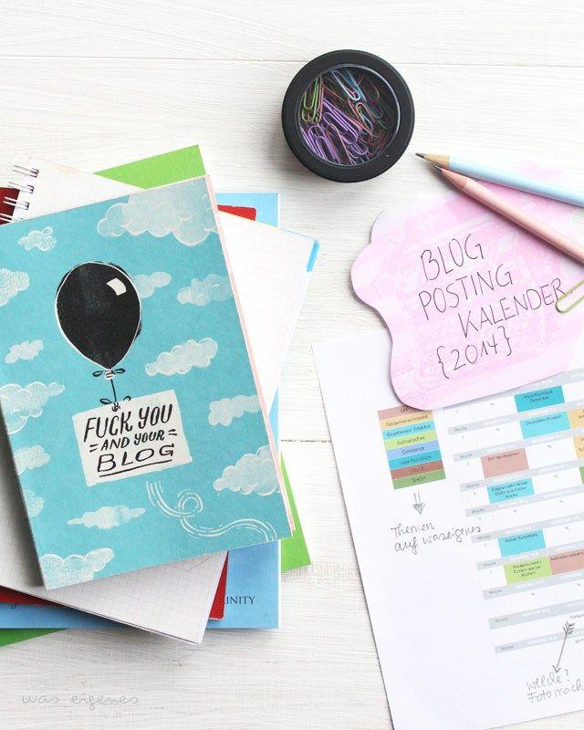 blog posting planer was eigenes blog