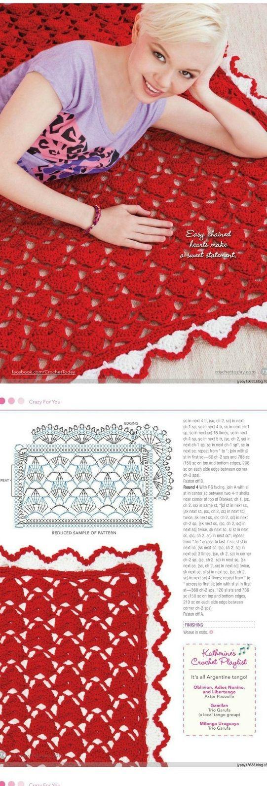 FIFIA CROCHETA blog de crochê : manta de crochê com gráfico