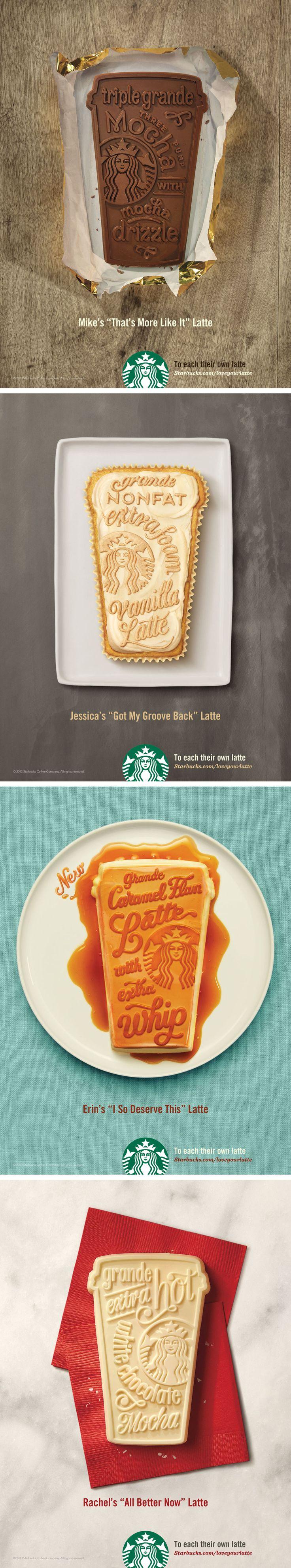 #Starbucks #ads. Type drawn by Jessica Hische #marketing