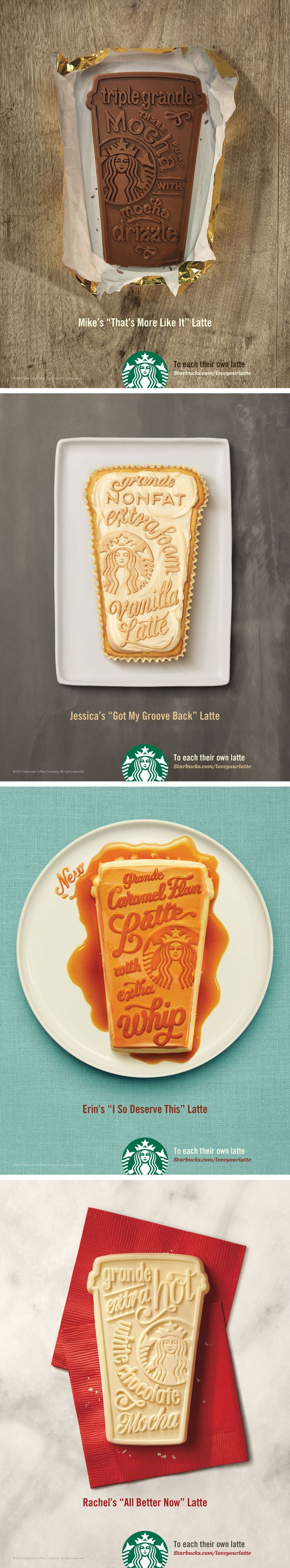 Starbucks advertisements. By Jessica Hische