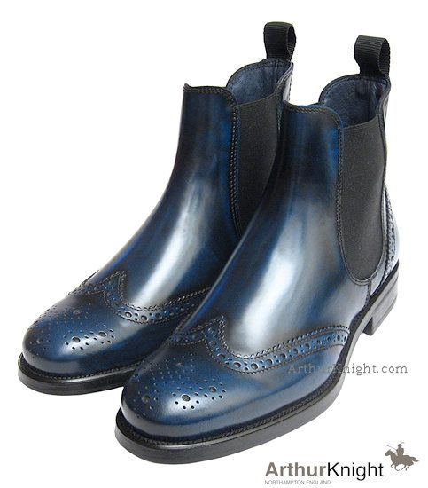 Petrol Blue Ladies Chelsea Boot