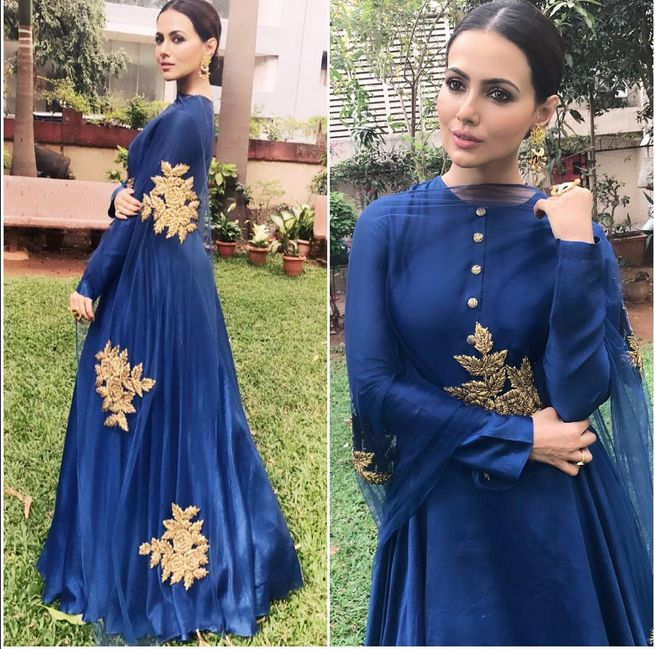 Sana Khan In A Beautiful Dress
