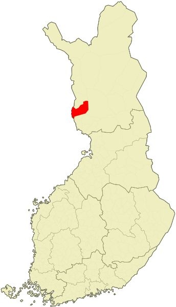 Location of Ylitornio in Finland
