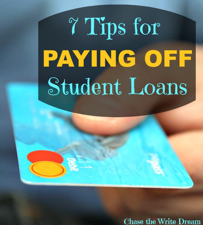 7 Tips for Paying Off Student Loans - Say goodbye to your debt sooner! College tips for paying for school.