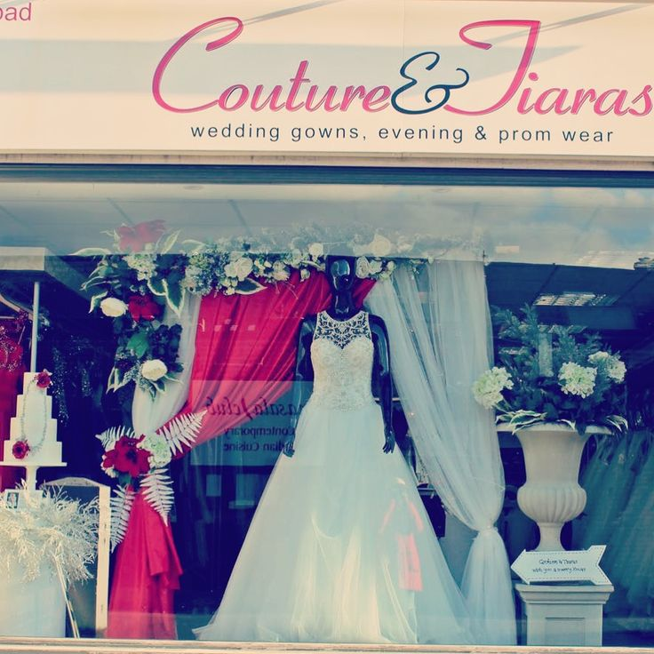 Couture & tiaras bridal Xmas window 2016