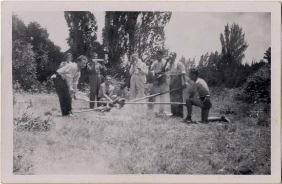 Juego de chueca, Coihueco, 1940