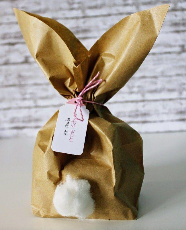 Super einfach: Geschenke als Hase verpacken