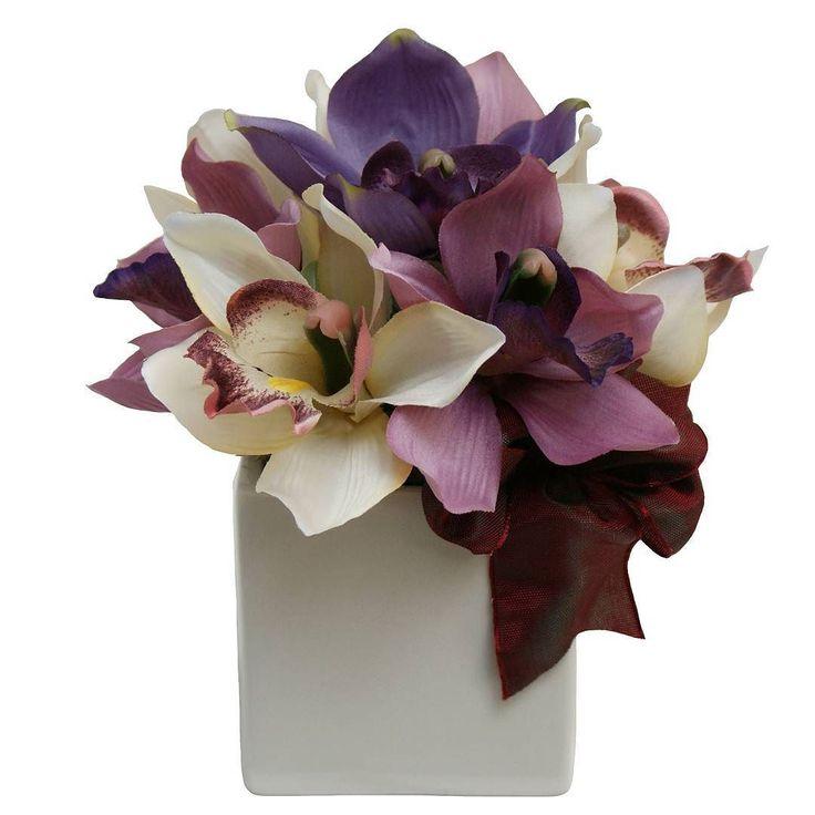 Atrage priviri #aranjament #aranjamente #flori #artificiale #floriartificiale #crem #mov #violet #orhidee #fonta #decoratiuni #infrumusetare #casa #flowerstagram #beatrixart www.beatrixart.ro
