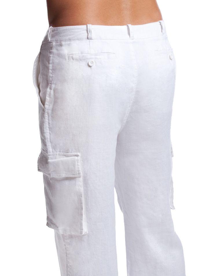 white cargo pants for men