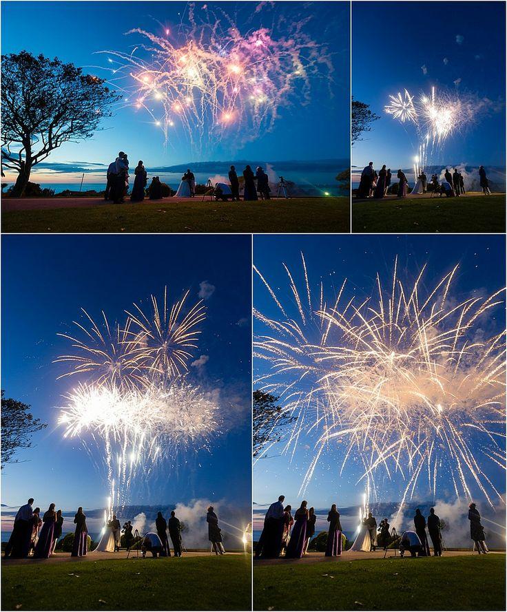 Fireworks at Tregenna Castle for a wedding