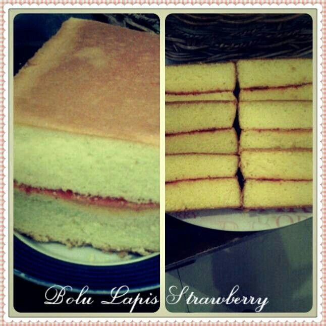 Bolu lapis strawberry