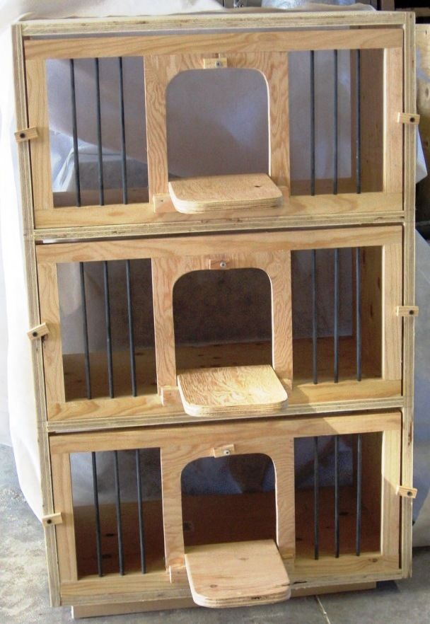 Wood Nest Fronts, easy to make. I like my nest boxes 24Wide-x24Deep-x20Tall at a minimum. The more room in the nest box the happier the pair of pigeons are! Equipment