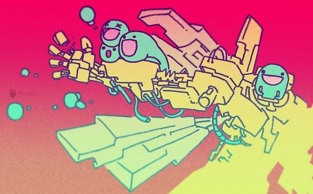 ilustración - meca intervenido by MATIATZU, via Flickr