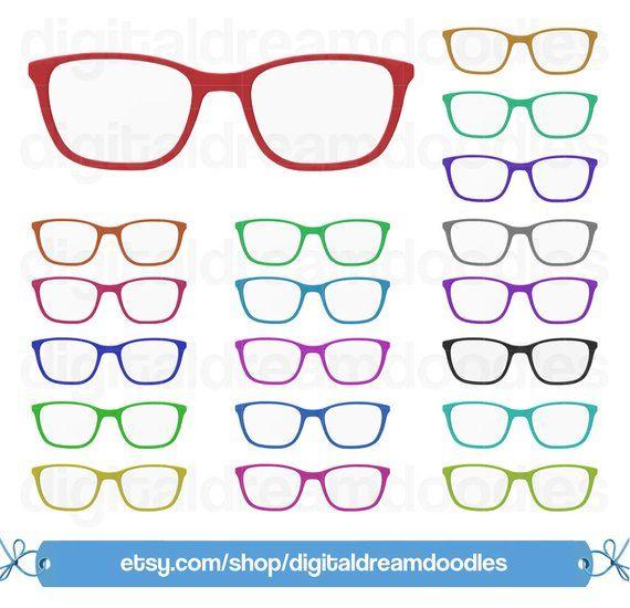 Glasses Clipart Glasses Clip Art Eye Glasses Image Eyewear Etsy In 2021 Clip Art Cat Glasses Frames Glasses