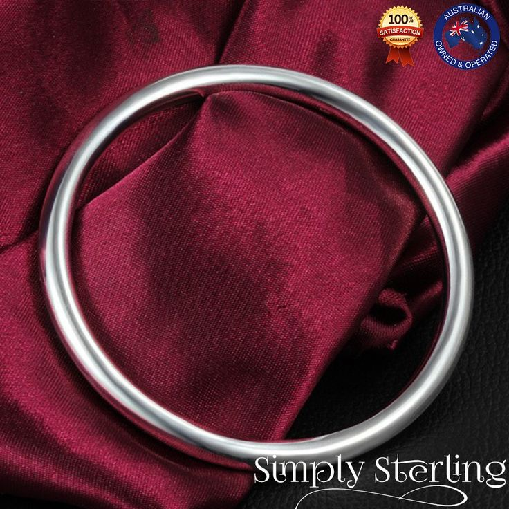 925 STERLING SILVER PLATED CLASSIC ELEGANT BANGLE SMOOTH SOLID 5.5mm THICK