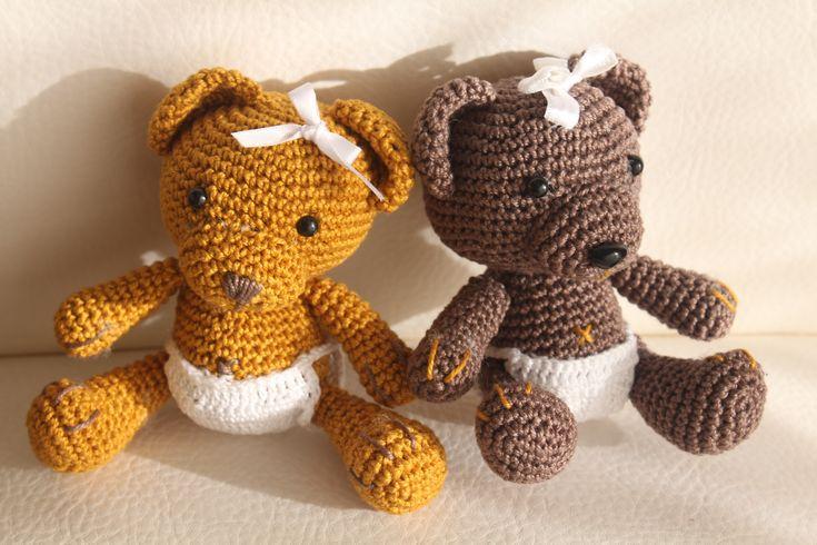 Baby orsetti con pannolino amigurumi.      Schema free.