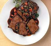 [ad#ads-1] Ingredients: 3-4 lb. (1,5-2 kg) beef roast (sirloin tip, rump, English cut) 1 tbsp. oil 1/4 c. soy sauce 1 c. coffee 2 bay leaves 1 garlic clove, minced 1/2 tsp. oregano 2 onions, sliced Preparation: Sear roast in 1 tablespoon oil on all sides in heavy Dutch oven. Pour sauce over meat. Put [...]