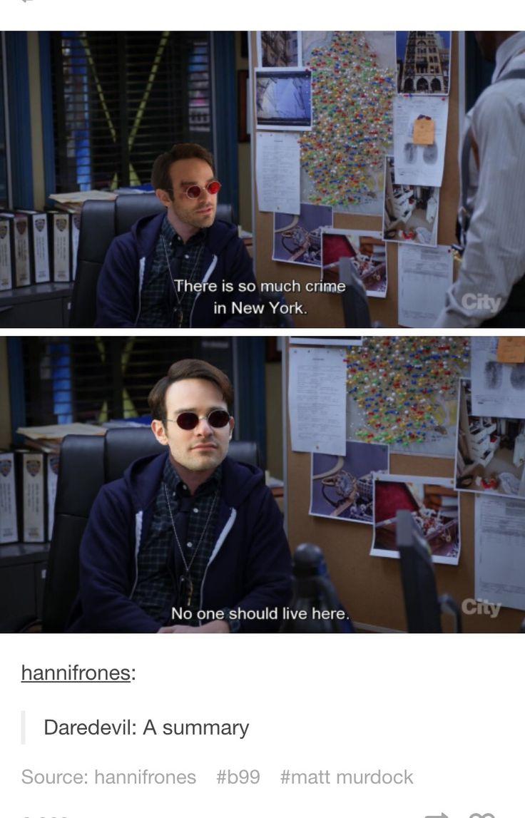 Brooklyn nine-nine and daredevil, my two favorite things