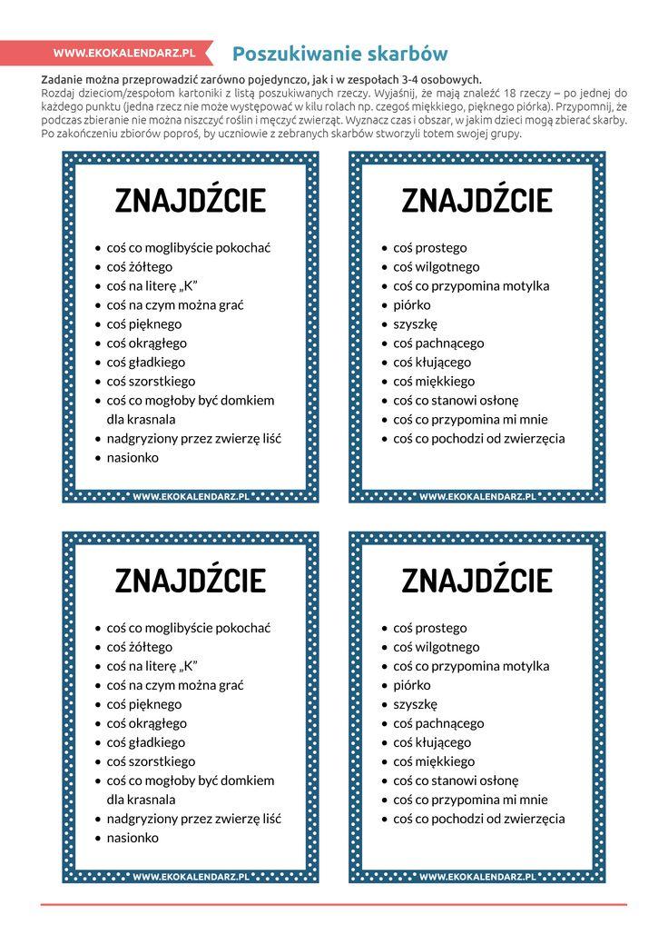 Poszukiwanie skarbów http://www.ekokalendarz.pl/pakiet-edukacyjny-na-swiatowy-dzien-ziemi/