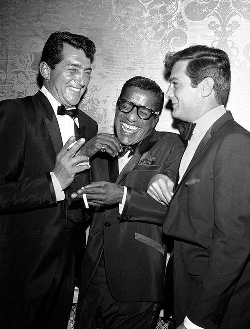 Sammy Davis Jr. Dean Martin, and Tony Curtis photographed by David Sutton