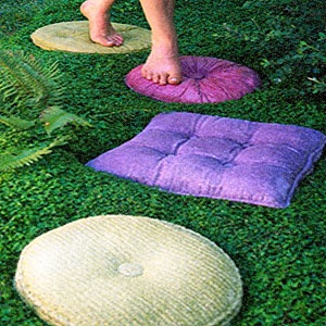 Add Some Whimsy With Concrete Pillow Stepping Stones?