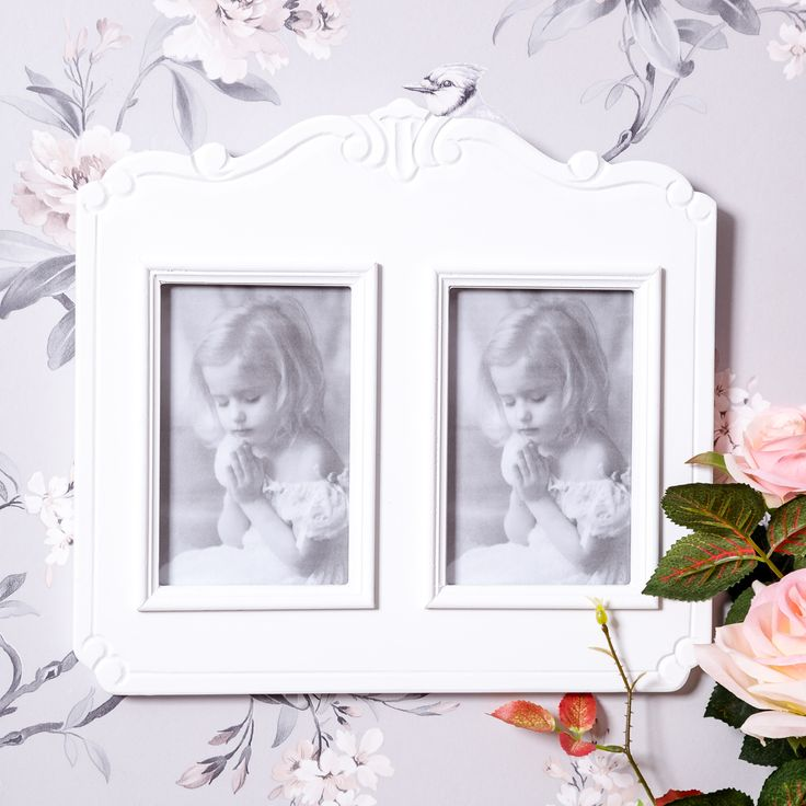 Our gorgeous double photo frame would look stunning on any wall in your home.   Perfect for displaying your favorite photographs in. Available now at www.shabbychicandvintage.co.uk