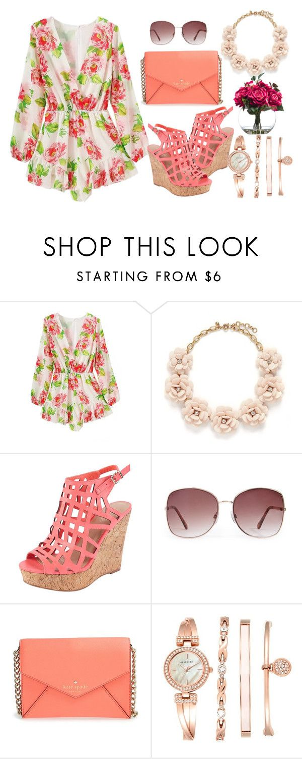 """Pastels for a Smile"" by laura-wild-1 ❤ liked on Polyvore featuring J.Crew, Charles by Charles David, Forever 21, Kate Spade, Anne Klein and Lux-Art Silks"